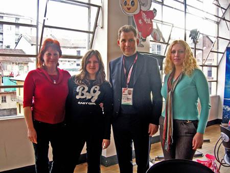 В пресс-центре Русского дома- я, Астахов и Наташа Быкова