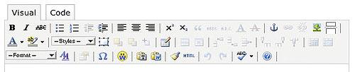 WP Super Edit toolbar