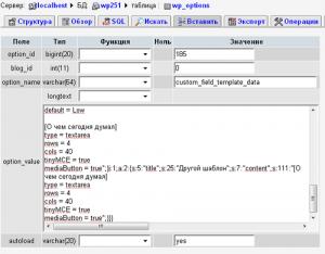настройки хранятся в базе данных в таблице wp_options